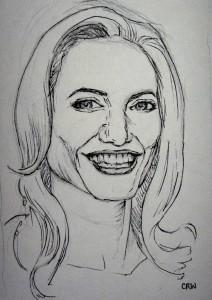 Angelina Jolie drawing