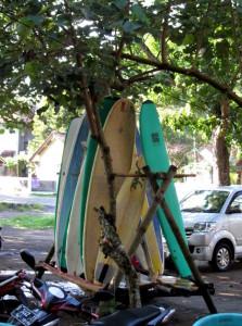 surfing in Batu Karas