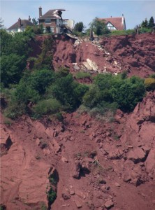 house falls into the sea in Babbacombe