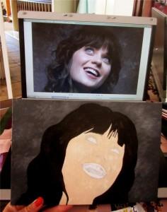 how to paint an acylic portrait