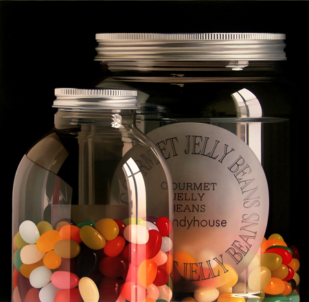 jelly beans painting by Pedro Campos