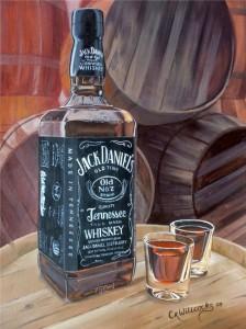 Photorealistic Jack Daniels Painting