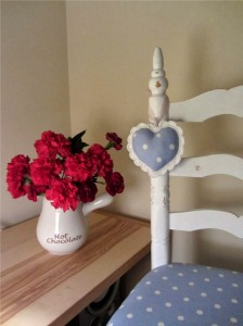 shabby chic heart ornament