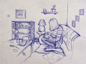 Biro pen drawing