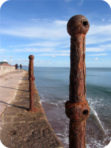 Teignmouth seafront in south Devon