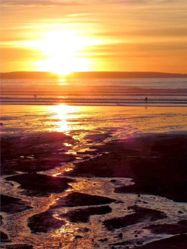 sunset at Saunton, Devon