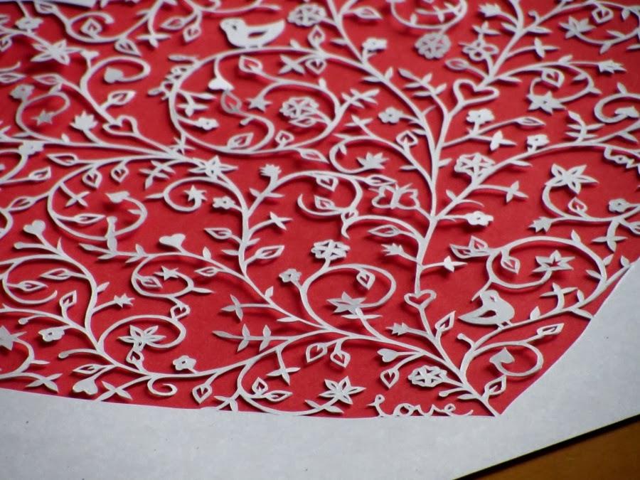 heart shaped papercut