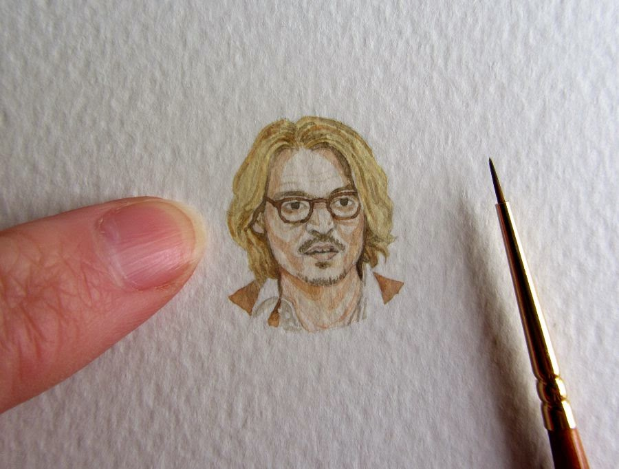 Johnny Depp Watercolour Painting