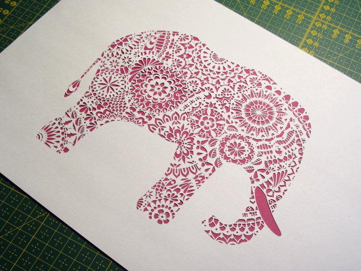 paper cut elephand