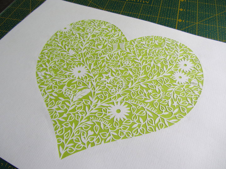 paper cut heart commission