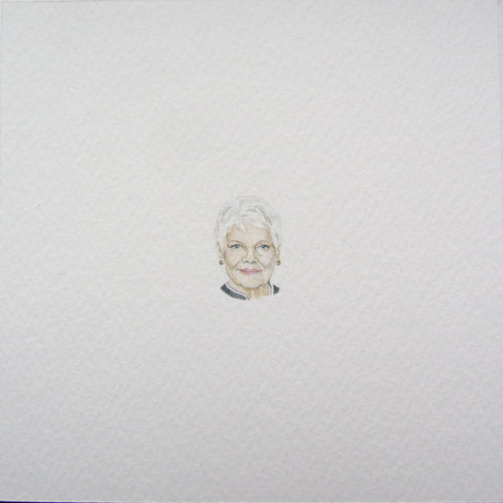 Judi Dench watercolour portrait