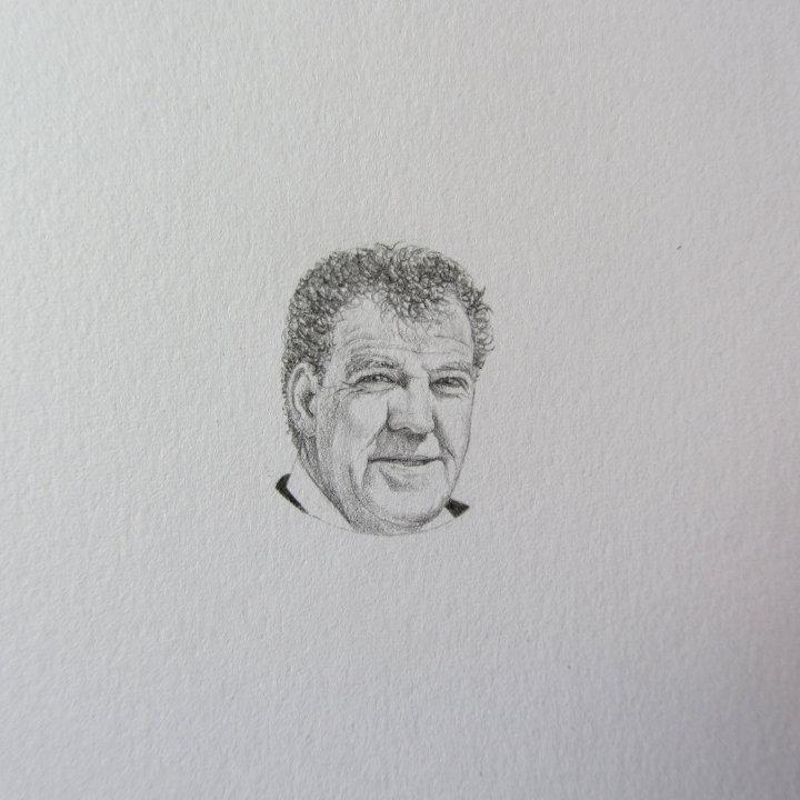 Jeremy Clarkson pencil portrait