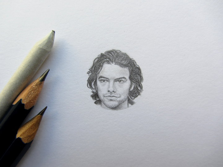 Aiden Turner pencil portrait