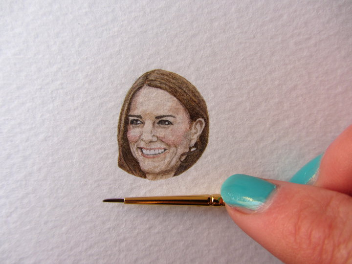 Kate Middleton Miniature Portrait