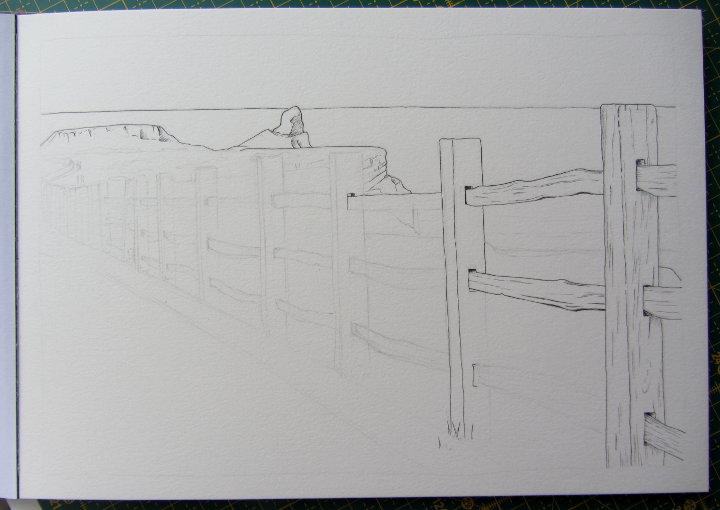 Drawing Llangennith, Gower