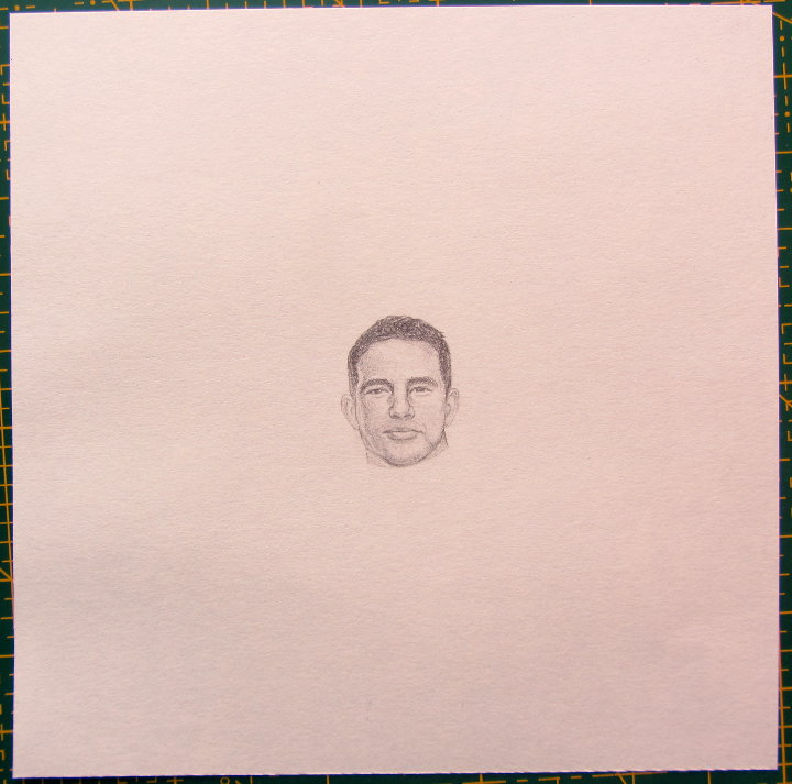 miniature portrait Channing Tatum
