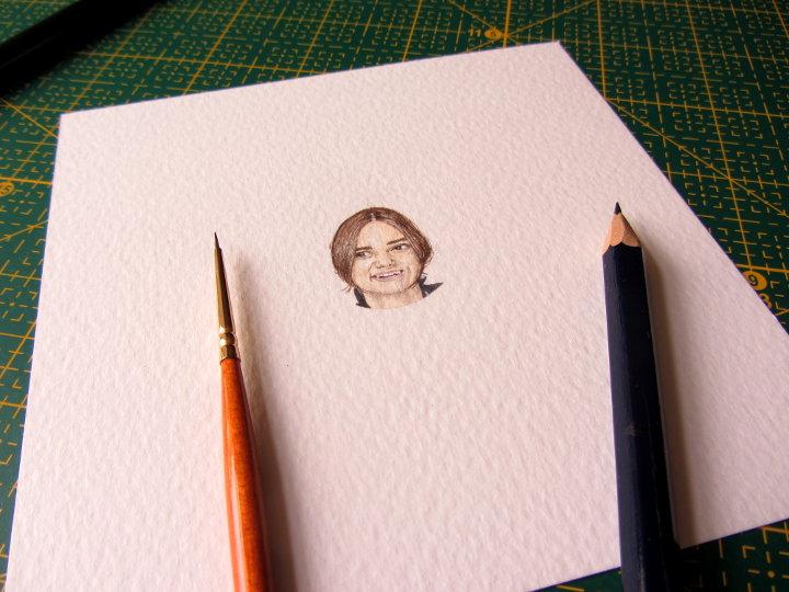 miniature portrait Keira Knightley