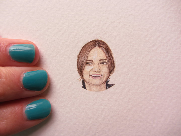 miniature portrait of Keira Knightley