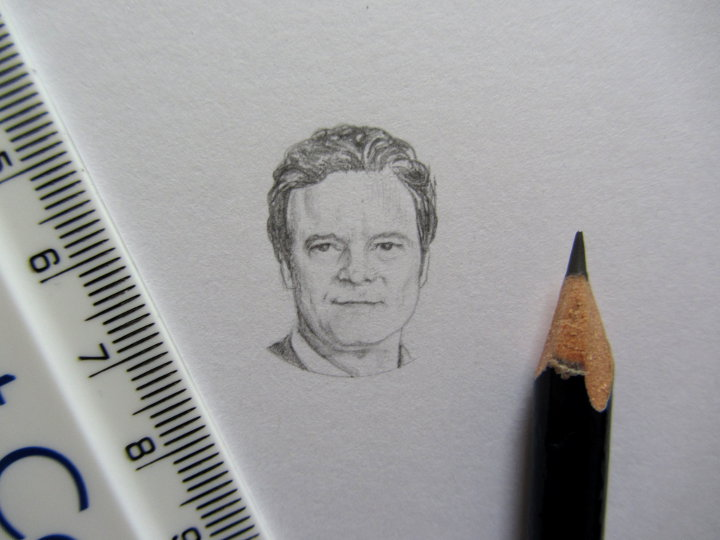 pencil portrait of colin firth
