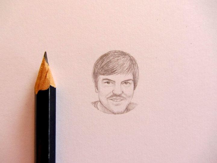 miniature pencil portrait