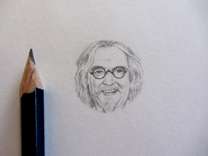 Billy Connolly miniature portrait