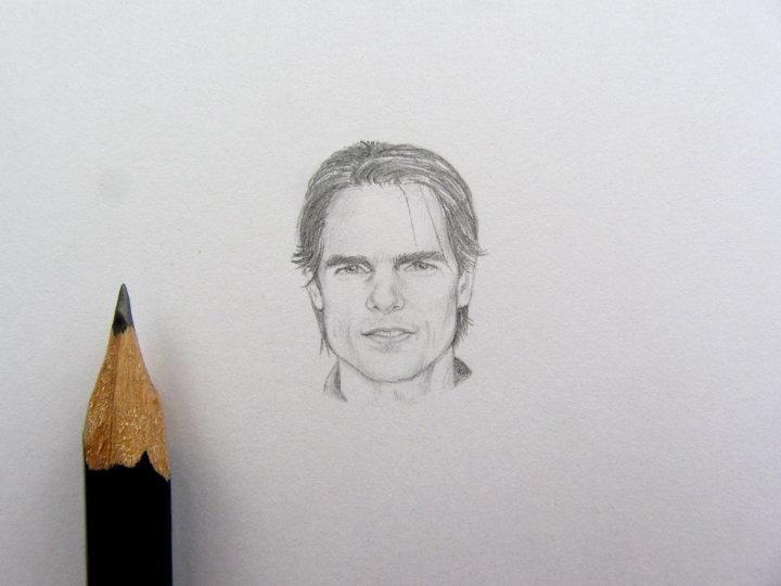 Tom Cruise miniature portrait