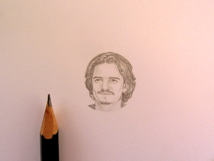 Miniature portrait of Orlando Bloom