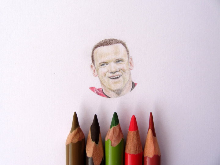 miniature portrait of wayne rooney
