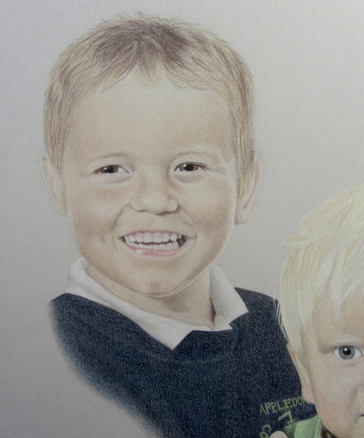 coloured pencil portrait