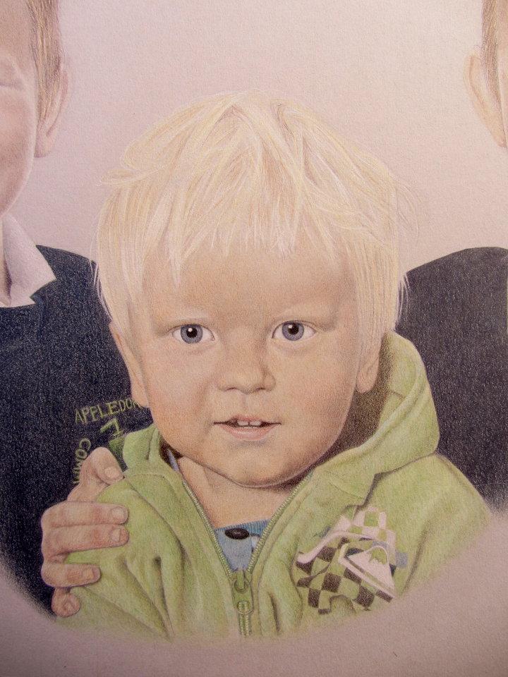 coloured pencil portrait