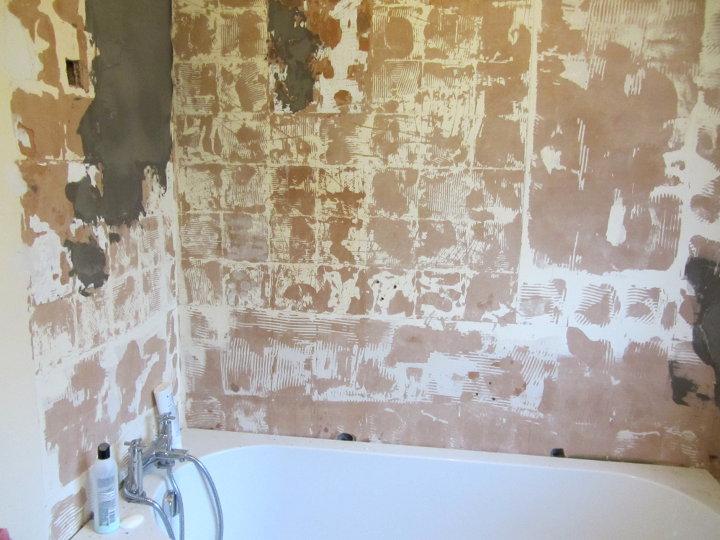 bathroom before tiling