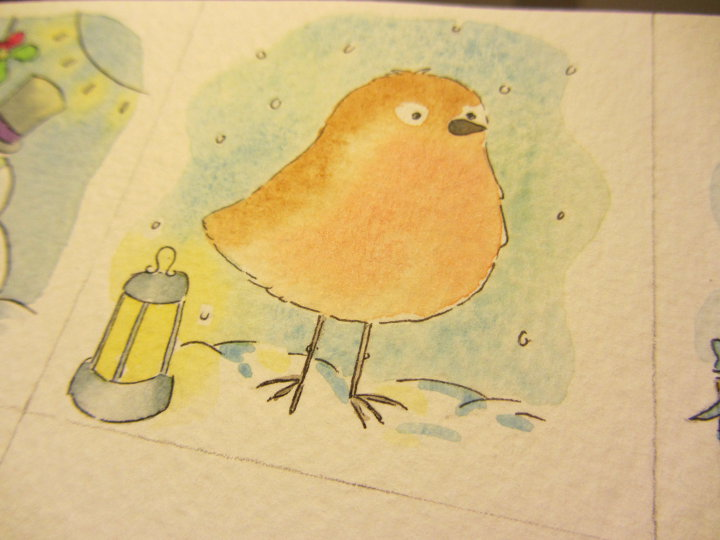 watercolour christmas card designs