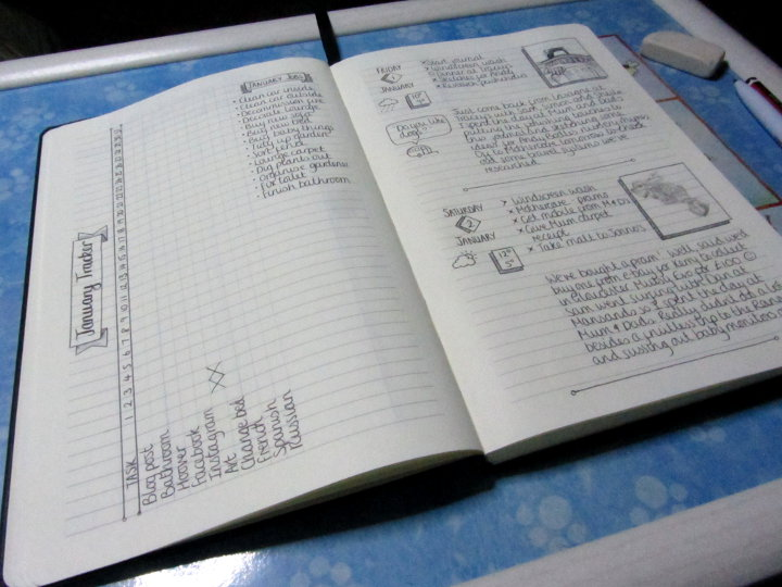 bullet journal set up