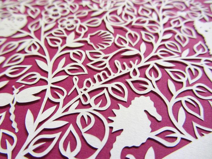 paper cut heart design