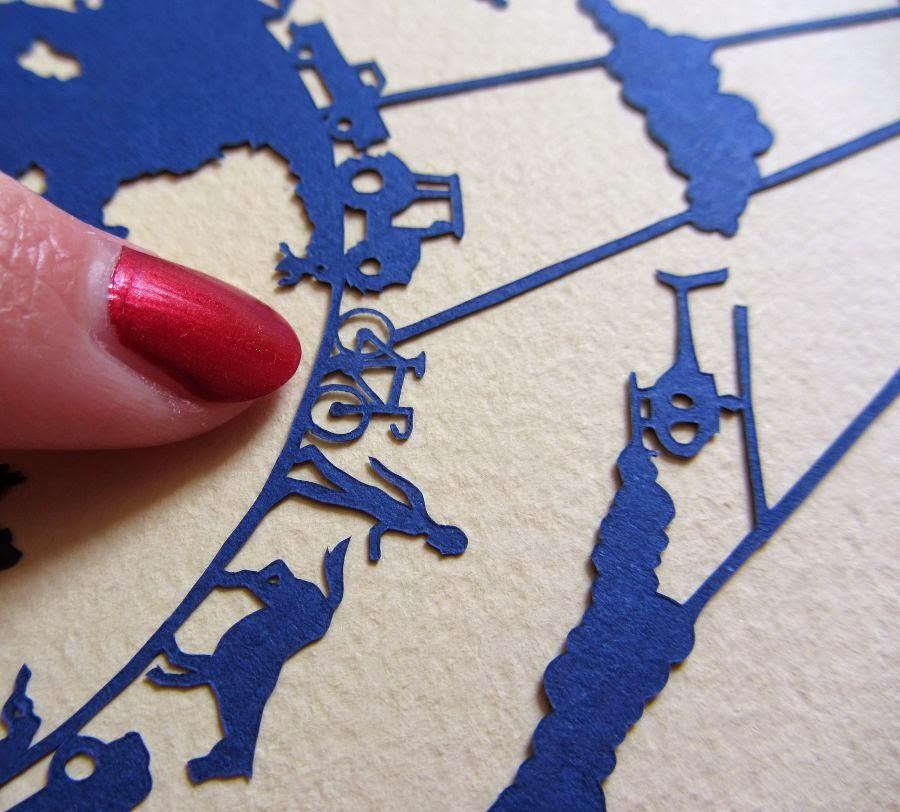 intricate paper cut design