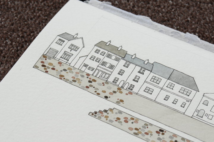 appledore watercolour painting