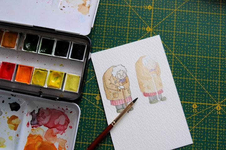 grandma character illustration