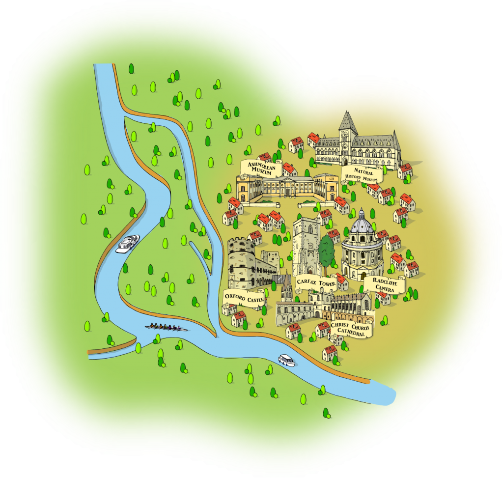 illustrated map of oxford