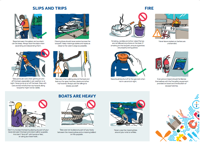 safety poster or card illustrations