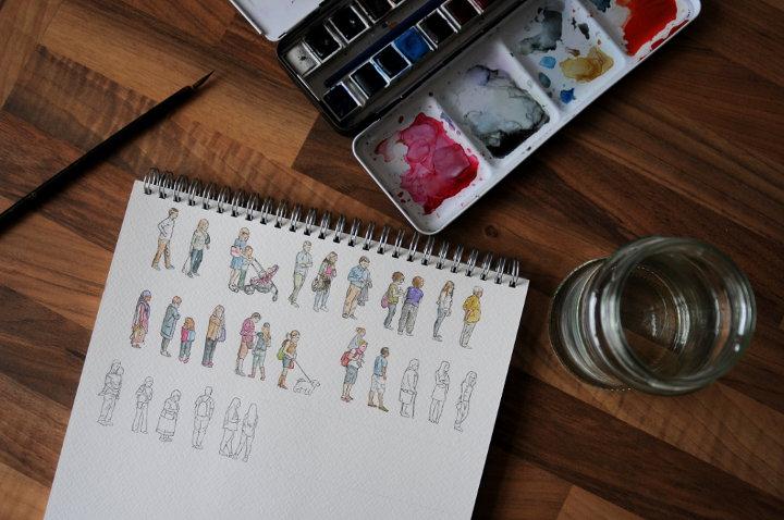 watercolour people