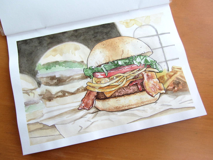 Burger - food illustration