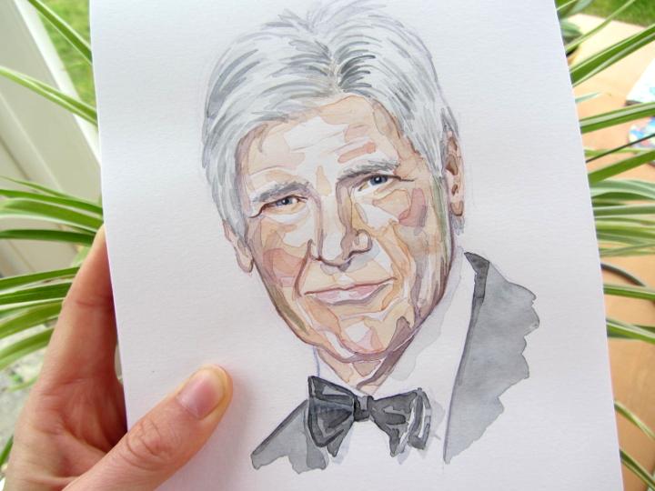 watercolour portrait illustration