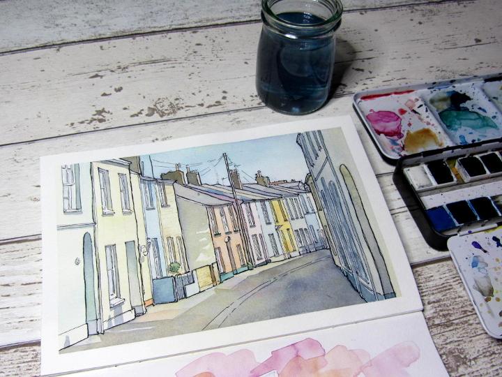 Appledore watercolour painting