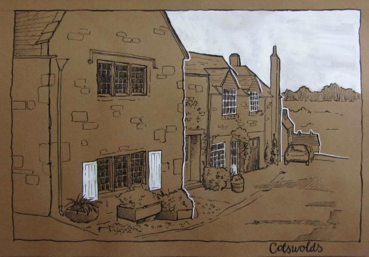 brown paper sketch