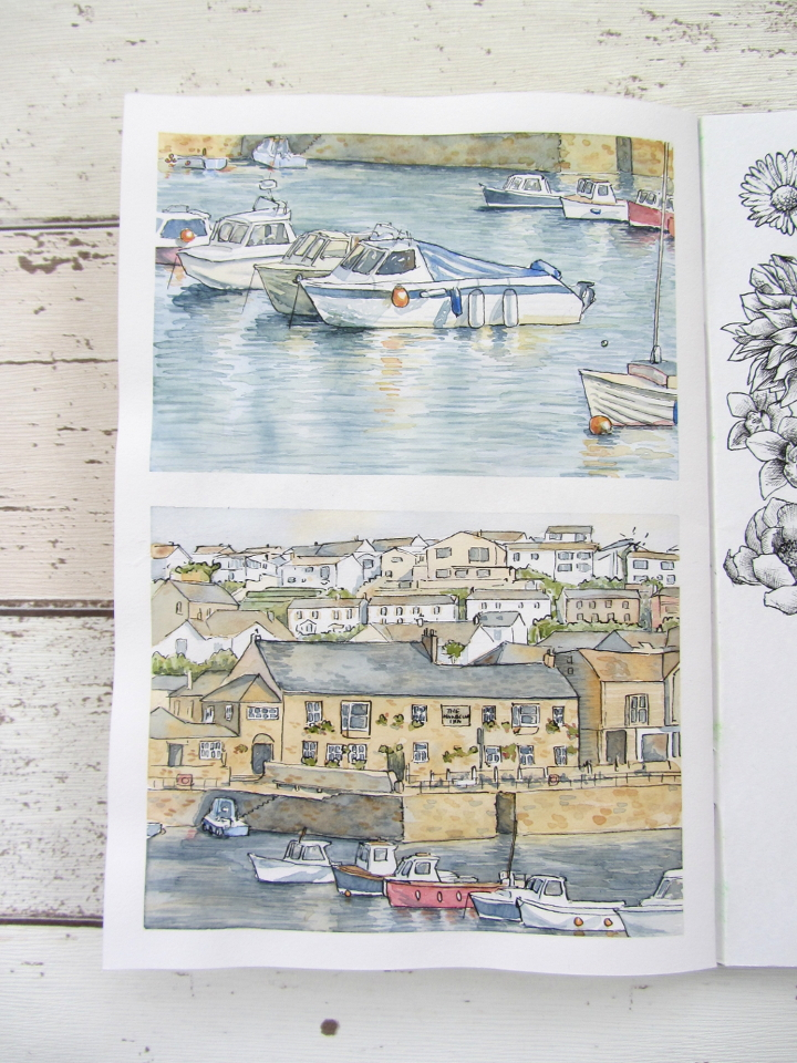 Watercolour painting of Porthleven