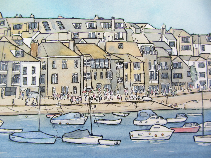 Watercolour painting of St Ives