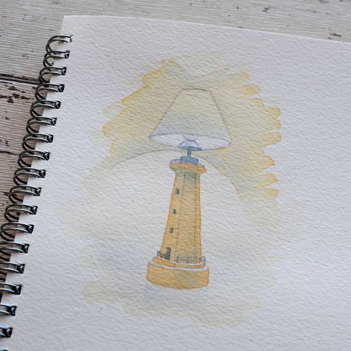 Lighthouse watercolour illustration