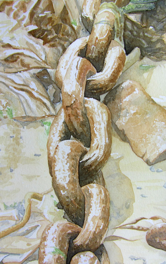 Rusty Chain watercolour