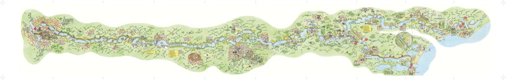 Canal du Midi Illustrated Map by Clare Willcocks