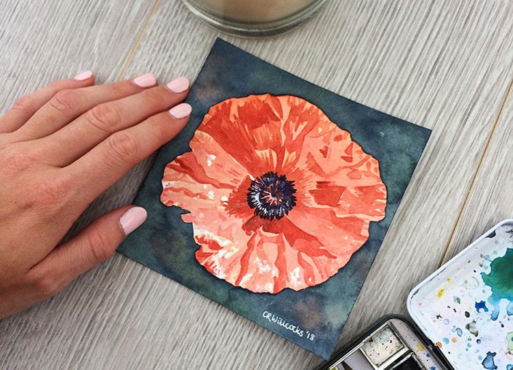 SAA Poppy painting challenge